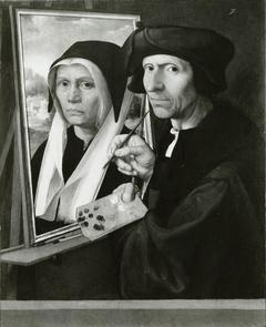 Jacob Cornelisz Painting a Portrait of His Wife