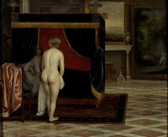 Kandaules' wife discovers Gyges
