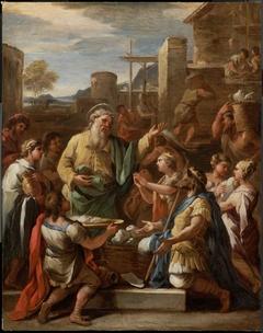 King Tiridates before Saint Gregory the Armenian