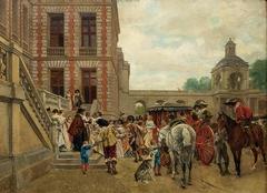 La llegada al castillo Throusps