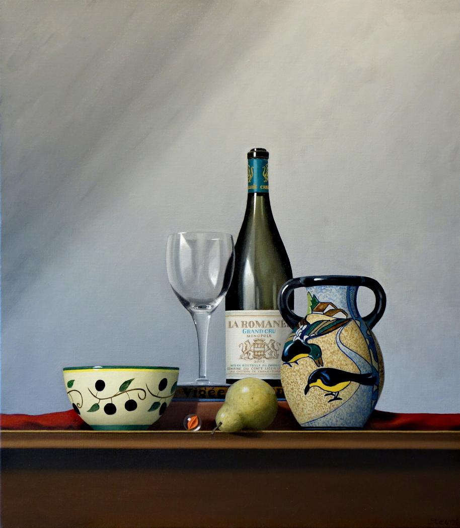 La Romanee wine bottle