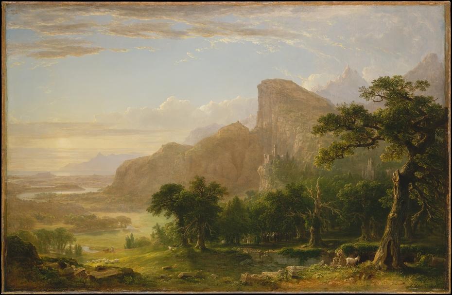 "Landscape—Scene from ""Thanatopsis"""