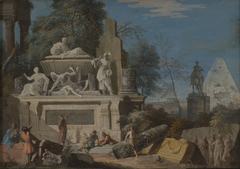 Landscape with an Allegorical Monument to Newton