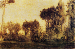 Landscape with Curtain of Trees
