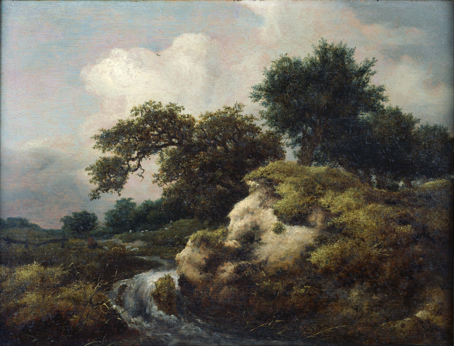 Landscape with Dune and Small Waterfall