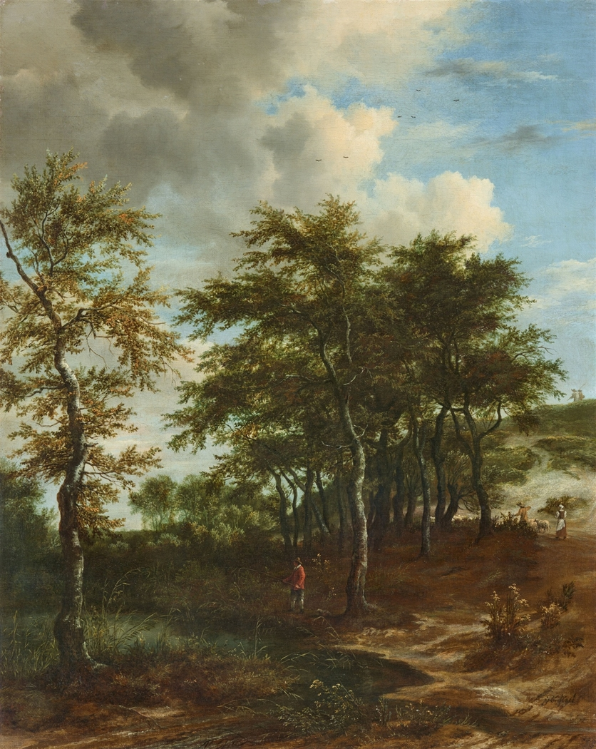 Landscape with Tall Trees