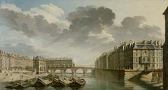Le Quai des Ormes le pont Marie et l'île Saint-Louis