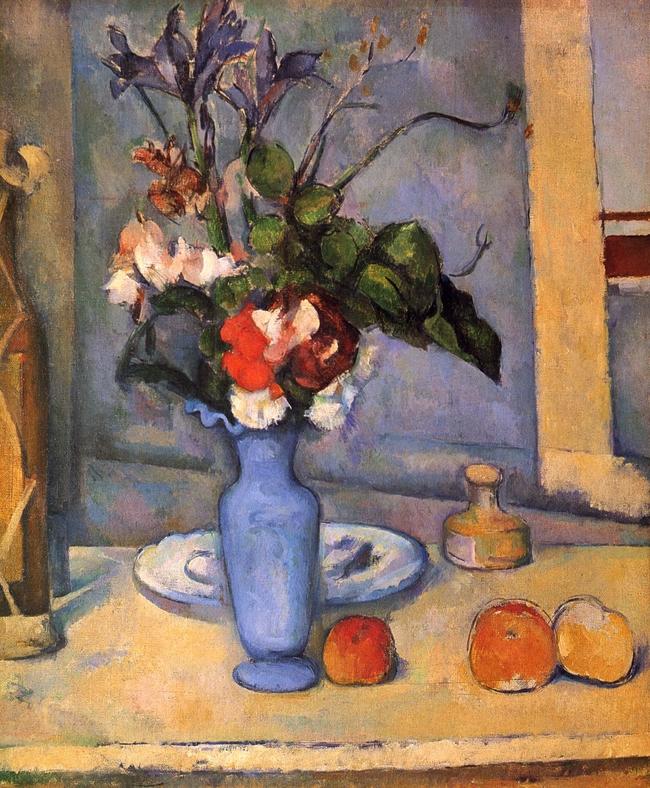 Le Vase Bleu Paul Czanne Artwork On Useum