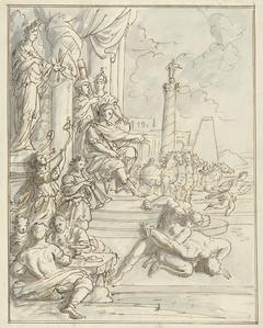 Lucius Aemilius Paullus laat te Amphipolis feesten aanrichten