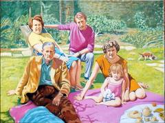 'Lunch on the grass' (2012) oil on linen, 76.3 x 101.7 cm