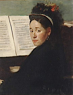 Mademoiselle Dihau Playing the Piano
