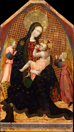 Madonna and Child with Two Angels and a Donor