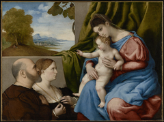 Madonna and Child with Two Donors