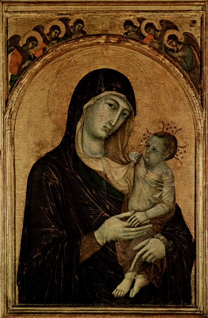 Madonna with Child and six Angels