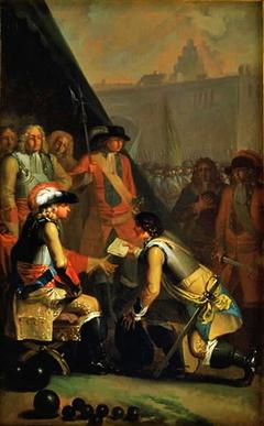 Magnus Stenbock Surrenders the Fortress of Tønningen to Frederik IV in 1714