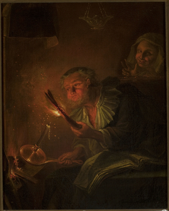 Man with a fire torch