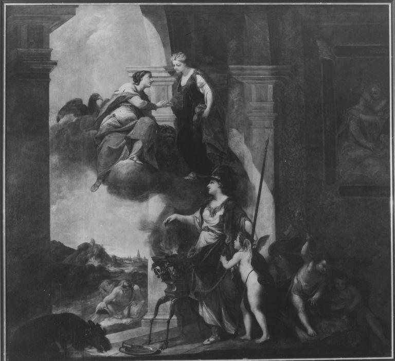 Minerva von Hymen Begleitet