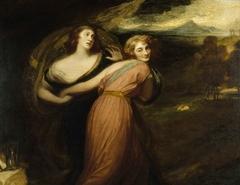 Mirth and Melancholy (Miss Wallis, afterwards Mrs James Campbell, fl.1789-1814)