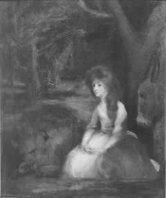 Miss Elizabeth Beauclerc as Una with the Lion
