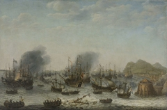 Naval battle near Gibraltar, 25 April 1607 (Victory over the Spanish near Gibraltar by a Fleet Commanded by Admiral Jacob van Heemskerck)