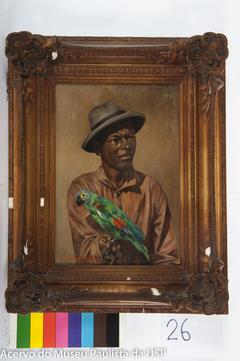 Negro com Chapéu e Papagaio