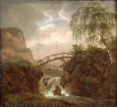 Nordic Landscape with a Wooden Bridge