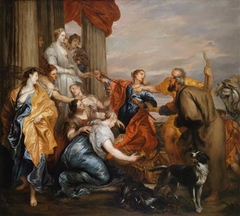 Odysseus discovering Achilles amidst the daughters of Lykomedes