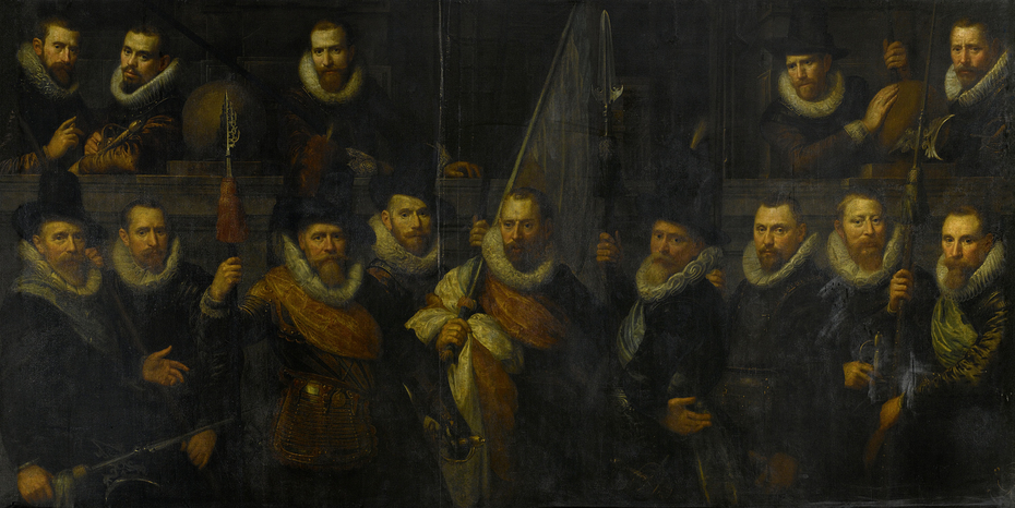 Officers and other civic guardsmen of the IIIrd District of Amsterdam, under the command of Captain Jacob Gerritsz Hoyngh and Lieutenant Nanningh Florisz Cloeck