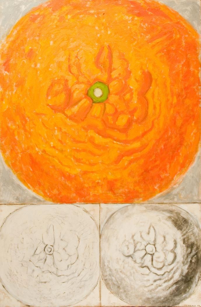 'Orange: colour, line, tone', (1969). Oil on canvas. 92 x 137 cm.