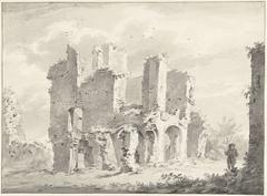 Overblijfselen van de abdij te Rijnsburg