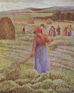Peasant Girl Raking Hay at Èragny