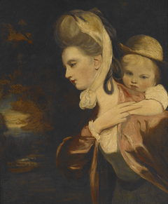 Pick-a-Back (Mrs. Payne Gallaway and Child) (copy of)