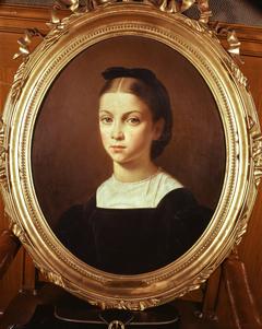 Portrait de Cécile Pasteur, fille de Louis Pasteur, à l'âge de 11 ans