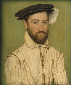Portrait of a Bearded Gentleman, in a Black Beret With White Plumage