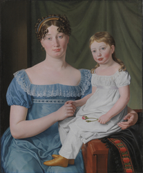 Portrait of a Noblewoman Sophie Hedvig Løvenskiold and her Three-Year-Old Daughter