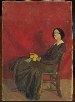 Portrait of a woman with flowers