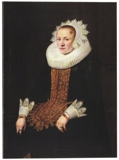 Portrait of a Young Lady in a Wedding Stomacher, Aged 21