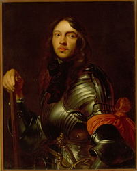 Portrait of a young man in armour