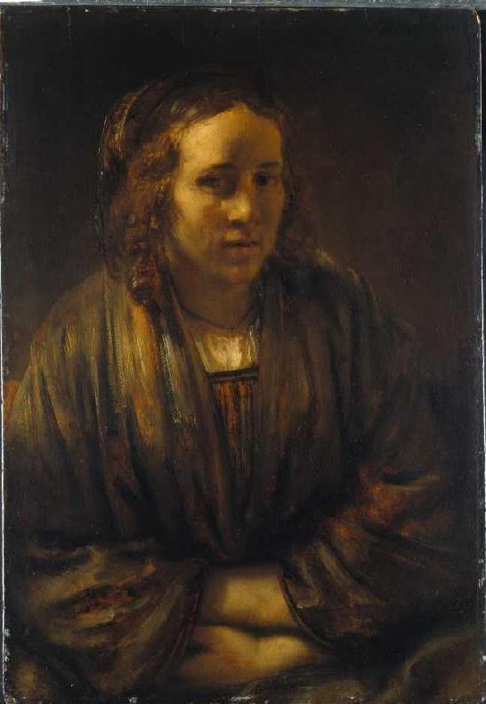 Portrait of Hendrickje Stoffels in silk wrap