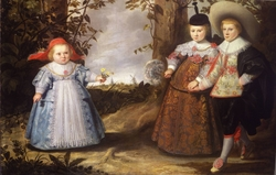 Portrait of Jacob (1627), Elisabeth (1629-1678) and Cornelia Francken (1633)