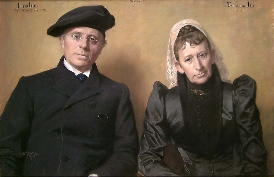 Portrait of the Author Jonas Lie and his Wife Thomasine