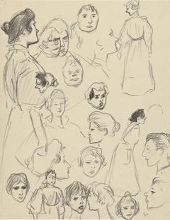 Portret- en figuurstudies van vrouwen