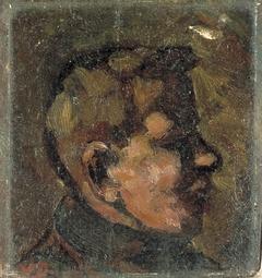 Portret van een jongen en profil
