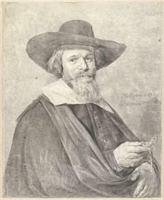Portret van een man met horloge in de rechterhand