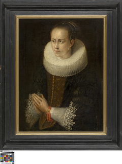 Portret van een vrouw in gebed
