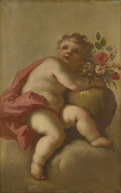Putto with a Vase of Flowers