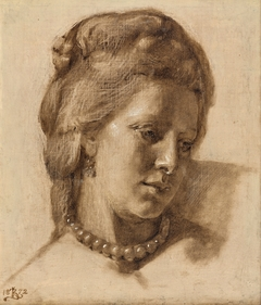 Queen Caroline Mathilde (Study for the painting Scene from the Court of Christian VII, exhibited in 1873 )