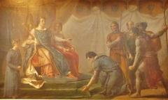Saint Louis pardonnant à Pierre de Bretagne