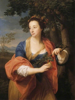 Sarah Lethieullier, Lady Fetherstonhaugh (1722-1788), with the Branch of a Pear