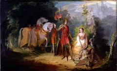 "Scene from Spenser's ""Fairie Queene"":  Una and the Dwarf"